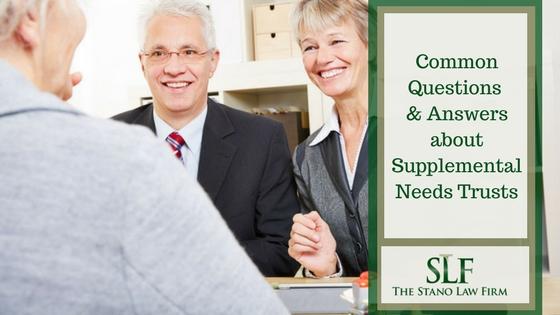 Supplemental needs trusts